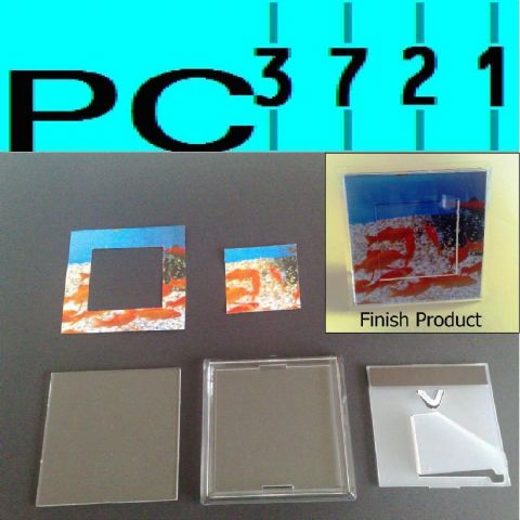 10 Fridge Magnet 3D Photo Frame 90 x 90 mm INSERT G1515